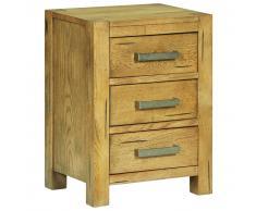 vidaXL Mesita de noche con 3 cajones madera rústica roble 40x30x54 cm