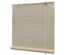vidaXL Persiana / Estor enrollable de bambú natural 120 x 160 cm