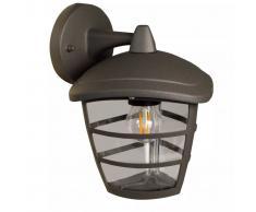 Luxform Lámpara de pared de jardín Brussels Down antracita 230V LUX1603Z