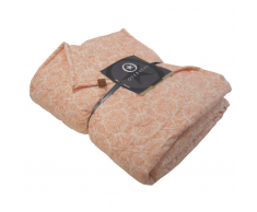 Overseas Colcha de tartán microfibra 140x220 cm rosa pastel