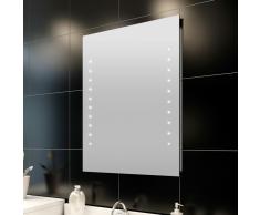 vidaXL Espejo del baño con luces de LED en pared, 50 x 60 cm