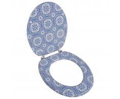 vidaXL Asiento de inodoro WC con tapa de MDF diseño de porcelana