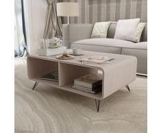 vidaXL Mesa de centro 90x55,5x38,5 cm madera gris