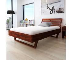 vidaXL Estructura de cama madera acacia marrón 140x200 cm