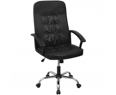 vidaXL silla de oficina cuero artificial 67x70 cm color negro