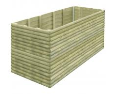 vidaXL Jardinera de madera pino impregnada 197x106x96 cm