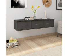 vidaXL Estante con cajones de pared aglomerado gris 90x26x18,5 cm