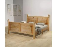 vidaXL Estructura de cama Corona Range pino mexicano 140x200 cm