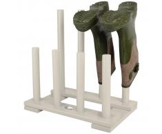 Esschert Design Zapatero blanco para botas, CF48W