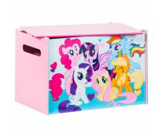 My Little Pony Caja de madera juguete 60x40x40 cm rosa WORL920001