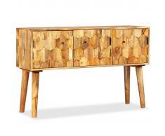 vidaXL Aparador de madera de mango maciza 118x35x75 cm