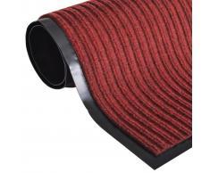 vidaXL Alfombra de entrada de PVC roja, 180 x 240 cm