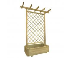 vidaXL Pérgola con jardinera 162x56x204 cm madera