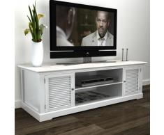 vidaXL Mueble TV de madera, Blanco