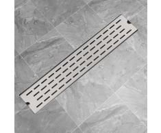 vidaXL Desagüe lineal de ducha 630x140 mm acero inoxidable