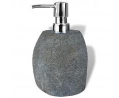 vidaXL Dispensador de jabón Piedra natural 16 cm