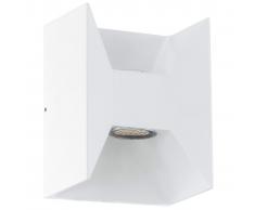 EGLO Lámpara de pared LED exterior Morino 5 W blanco 93318