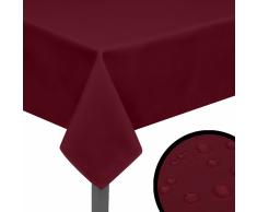 vidaXL Manteles de mesa 5 unidades burdeos 130x130 cm