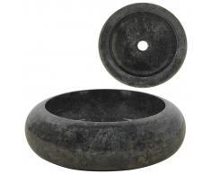 vidaXL Lavabo 40x12 cm mármol negro