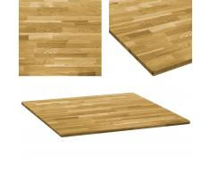 vidaXL Tablero de mesa cuadrado madera maciza de roble 23 mm 70x70 cm