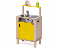 Wonderworld Fregadero de juguete madera amarilla HOUT192441