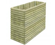 vidaXL Jardinera de madera de pino impregnada 19 mm 150x56x96 cm