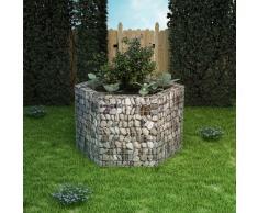 vidaXL Jardinera hexagonal de gaviones 160x139x100 cm