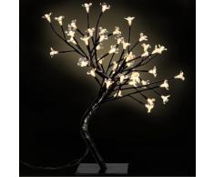 vidaXL Arbol mediano con luces LED amarillas cerezo, 2 unidades