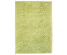 vidaXL Alfombra shaggy peluda 160x230 cm verde