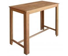vidaXL Mesa de bar de madera de acacia maciza 120x60x105 cm