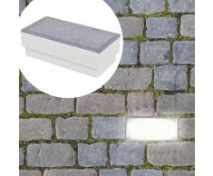 vidaXL Foco LED empotrable para el exterior, 100 x 200 68 mm