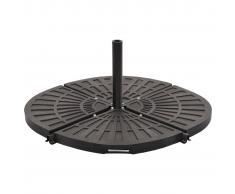 vidaXL Base con peso para sombrilla negro en forma de ventilador 20 kg