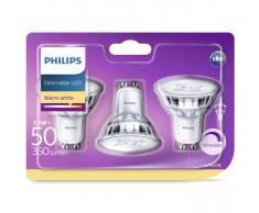 Philips Focos reflectores LED 3 uds Classic 5,5 W 350 lm 929001364186