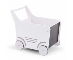 CHILDWOOD Carrito andador de madera juguete blanco WODSTRW