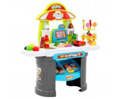 vidaXL Tienda de juguete para niños 51 piezas 68x25x67,5 cm