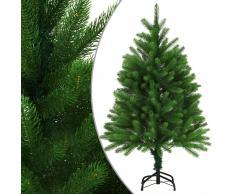 vidaXL Árbol artificial de Navidad con hojas realistas 120 cm verde