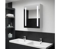 vidaXL Armario de cuarto de baño con espejo y LED 50x13x70 cm