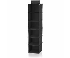 Leifheit Estante colgante para armario negro 30x30x125 cm 80003