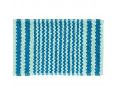 Sealskin Alfombra de baño turquesa a rayas, 50 x 80 cm, 294445430