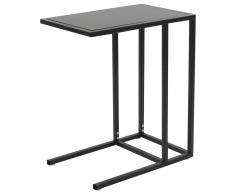 vidaXL Mesa en forma de C metal 35x55x65 cm negra