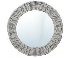 vidaXL Espejo de mimbre 80 cm