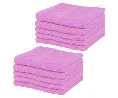 vidaXL Toallas de cortesía 10 unidades algodón 360 g/m² 30x30 cm rosa