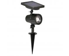 Luxform Foco solar LED de jardín Cannes negro 44109