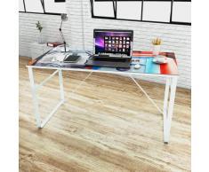 vidaXL Escritorio rectangular con superficie con imagen