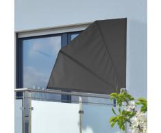 HI Toldo para balcón 1,2x1,2 m poliéster negro