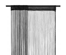 vidaXL Cortinas de flecos 2 piezas 100x250 cm negras