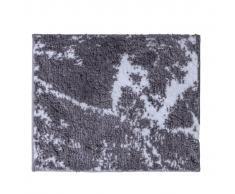 RIDDER Alfombra de baño Marmor gris y blanco 55x50 cm
