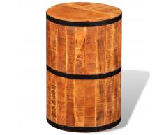 vidaXL Taburete de barra madera mango rugosa