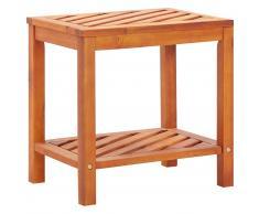 vidaXL Mesa auxiliar de madera maciza acacia 45x33x45 cm