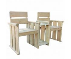 vidaXL Banco asiento de 2 plazas 150x55x89cm madera pino impregnada
